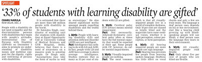 The Asian Age article on disability myths