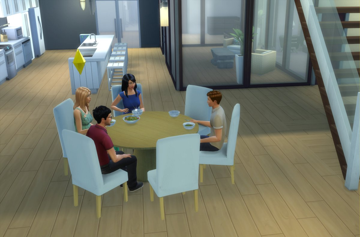 My sims 4 blog modern 6 seater dining table and chair set for 6 seater dining table for small space