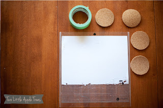 Cute & Easy Cork Coaster DIY - Two Little Apple Trees