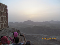 Sunrise on Mt. Sinai, Sinai Desert, Egypt (Where the Bible says 10 Commandments given to Moses),