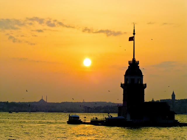 Atardecer sobre Estambul desde Üsküdar