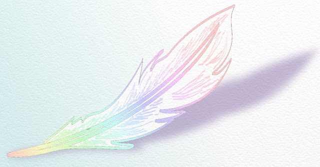 plume multicolore. Illustration de Florence Gobled, auteur de livres pour enfants et illustrateur jeunesse à Autun en Bourgogne