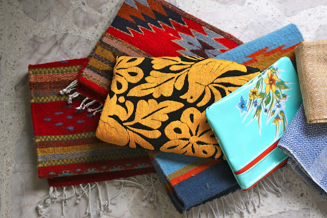 Embroidered textiles from Oaxaca, Mexico