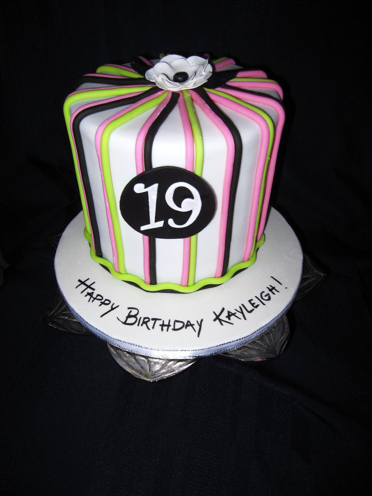 19th birthday cakes designs