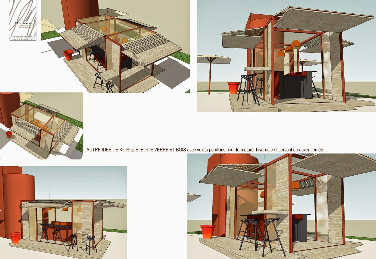 Sophie bannwart architecte d 39 int rieur for Kiosque exterieur