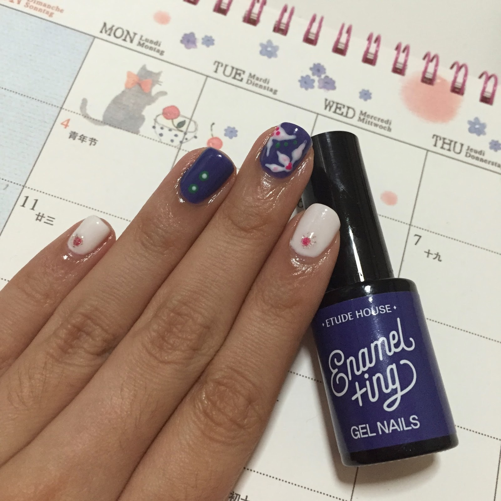 Gel Nail Journey: First trial with Etude House Gel Nail! | Jestinova