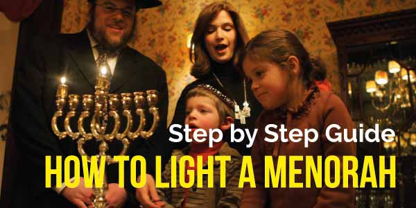 how to light menorah