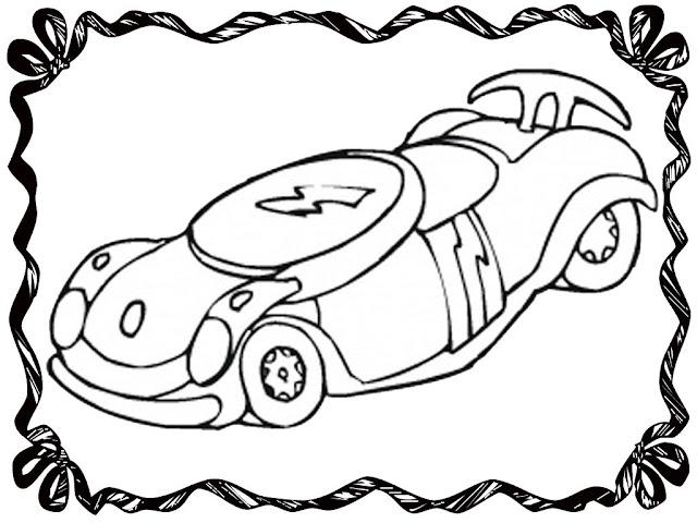 Disney Race Car Coloring Pages