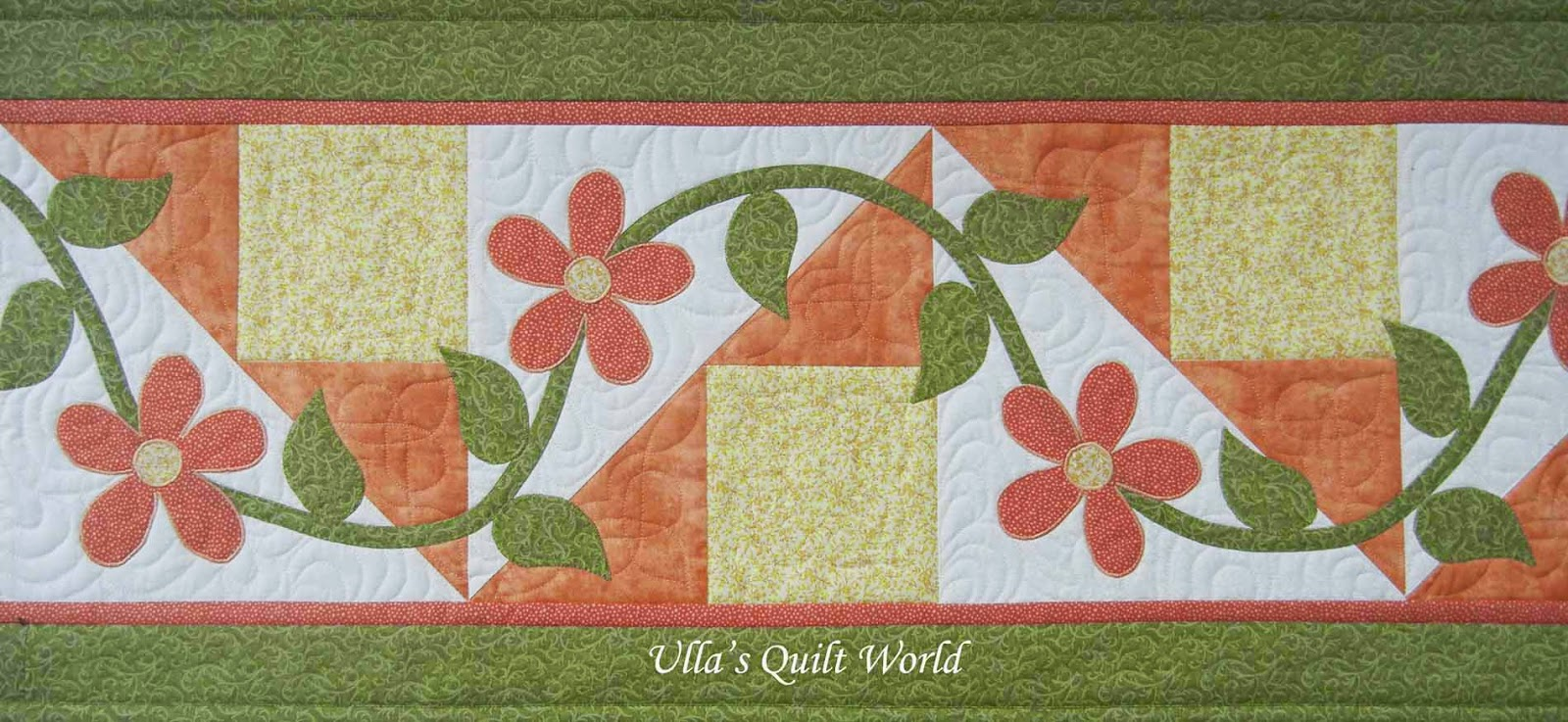 Ulla's Quilt World: Table runner quilt with flowers : quilting flowers - Adamdwight.com