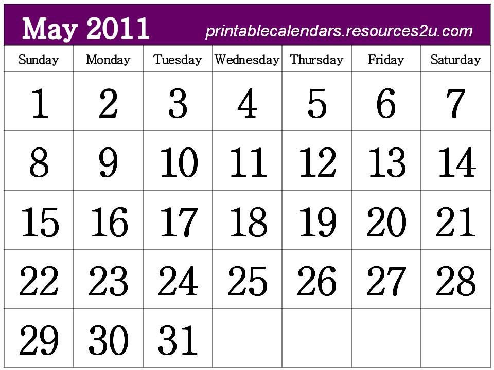 april and may 2011 calendar printable. may 2011 calendar printable