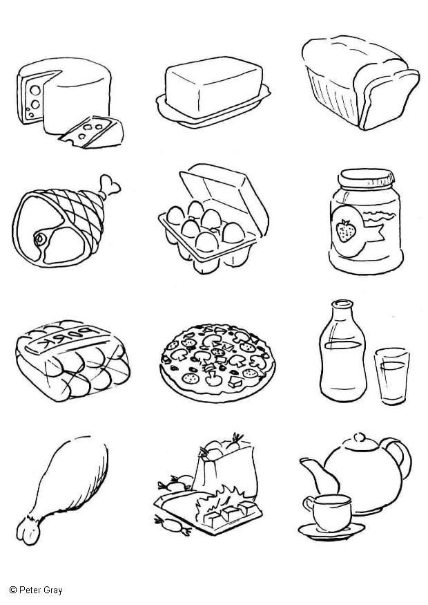 Imagenes para colorear de alimentos de origen animal - Imagui