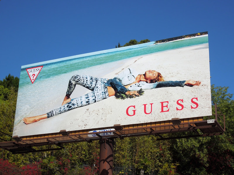 Guess Spring 2013 beach billboard