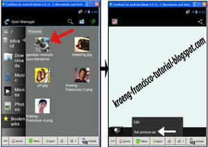 untuk ditetapkan sebagai bla…bla…bla, pilih WhatsApp profile photo