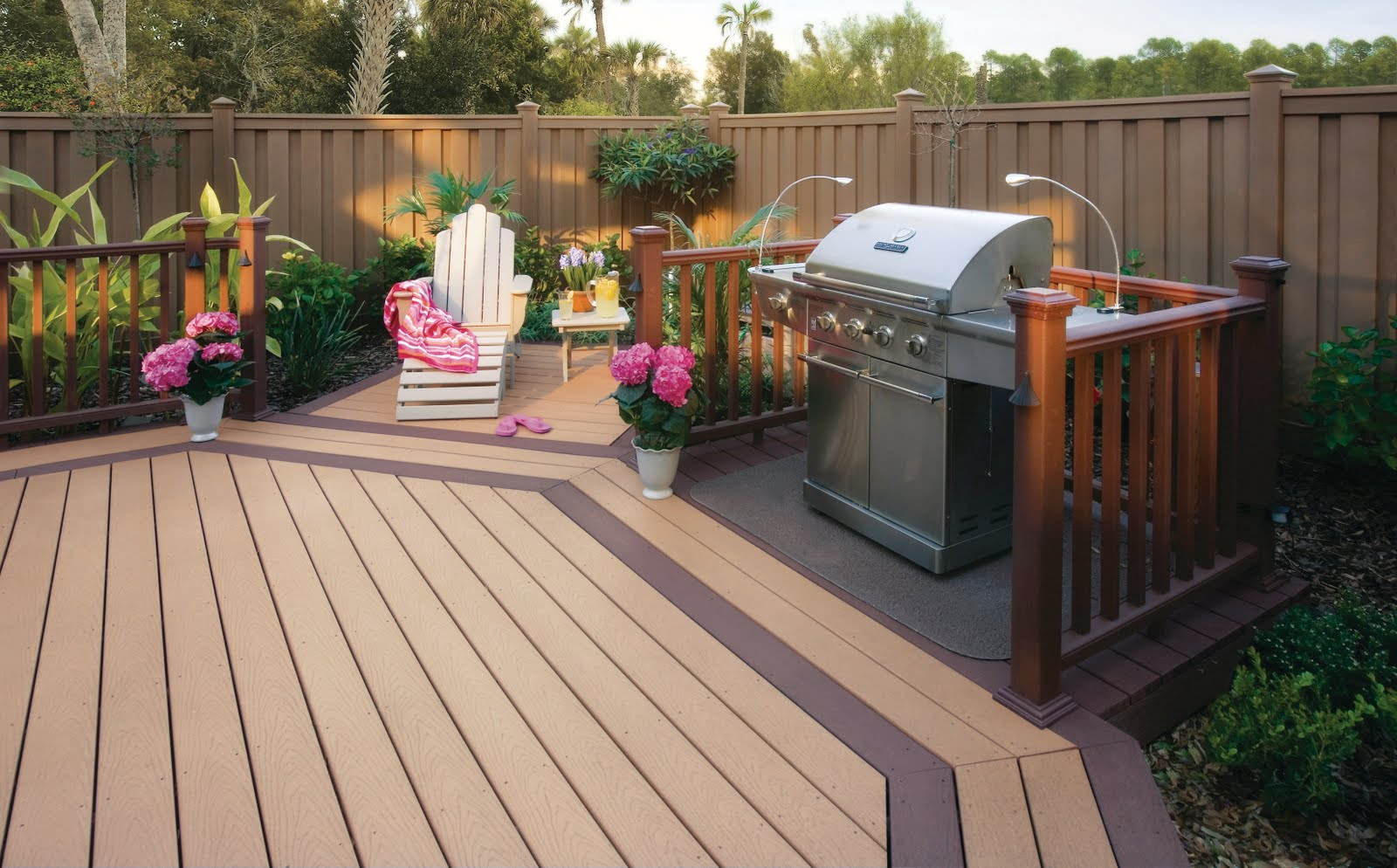 Composite deck composite decking manufacturers pa for Composite deck railing