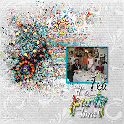 CraftyColonel Donna Nuce for Club Scrap Celebration blog hop, Scrapbook page