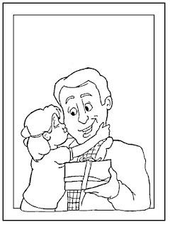 Dibujo Dia del Padre para colorear