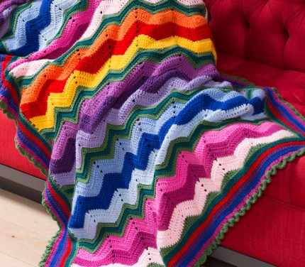 Stunning Rippling Throw - Free Crochet Pattern