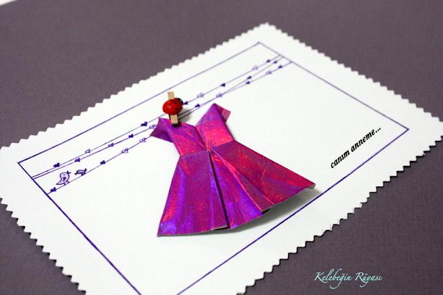 origami hediye kartı