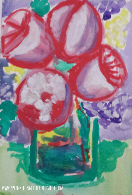 Peonies- watercolor- write 31 days