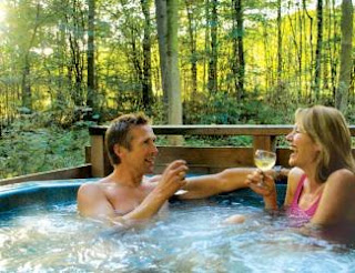 Relaxing Private Hot Tubs