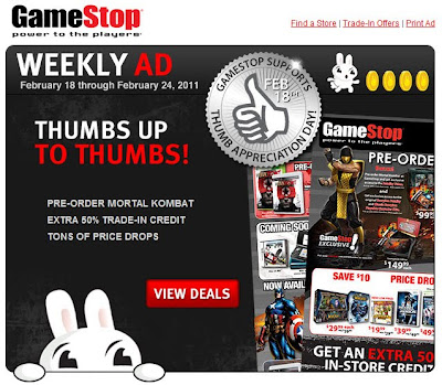 Click to view this Feb. 18, 2011 GameStop email full-sized