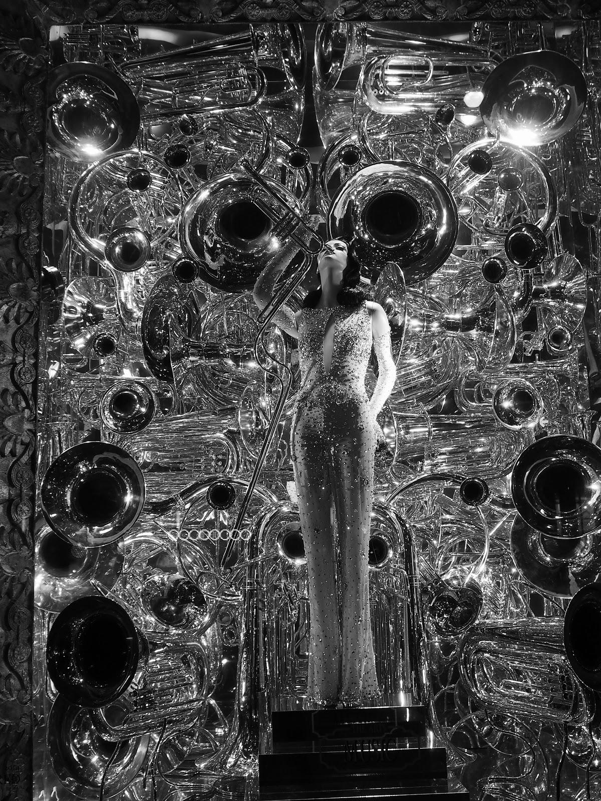 Inspired by Music (Night) #inspiredbymusic(night) #bgwindows #windowwatchers #holidaywindows #5thavenuewindows #NYC  #holidays #besttimeoftheyear #nyc ©2014 Nancy Lundebjerg