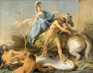 athena vs poseidon Poseidon is the god of the sea and protector of all aquatic features brother of zeus and hades, after the overthrow of their father, cronus, he drew.