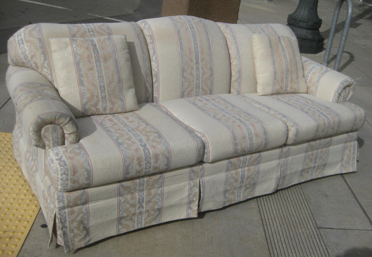 Uhuru Furniture Collectibles Sold Striped Sofa 60