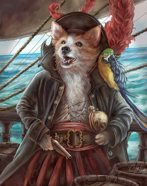 08-Pirate-Jean-Lafitte-Animals-From-History-Illustrator-&-Writer-Christina-Hess-www-designstack-co