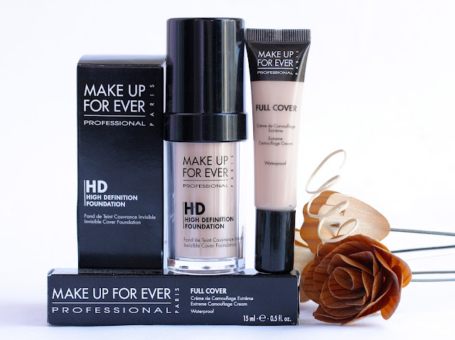 Make Up For Ever HD Foundation and Full Cover Concealer