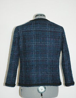 Chanel jacket blue plaid Burda 03/2012