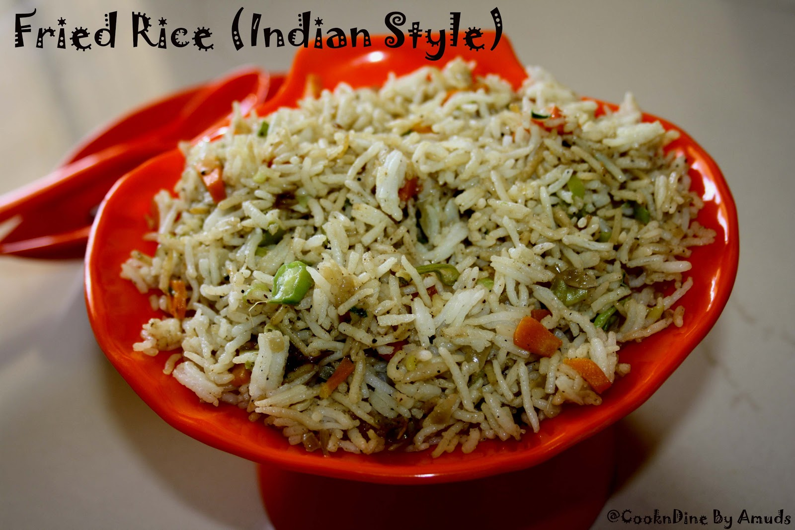 CooknDine....: Vegetable Fried Rice (Indian Style)