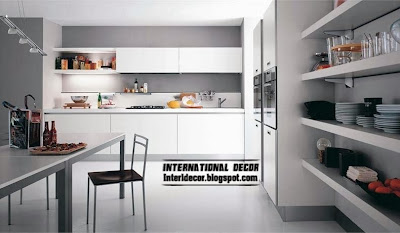 modern white kitchen designs and ideas, white kitchen cabinets and shelves