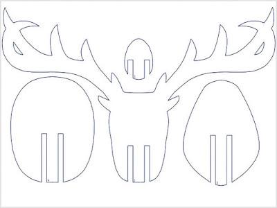 голова оленя из фанеры чертеж
