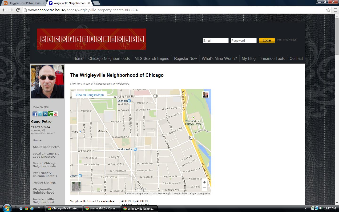 Wrigleyville neighborhood page screenshot