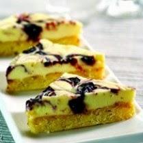 Resep Spesial Blueberry Almond Slices