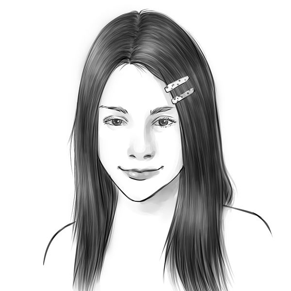 Pencil sketches and drawings: How to draw realistic hair
