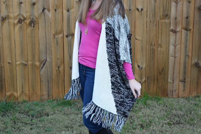 fringe cardigan, fall fashion