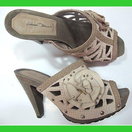 високи чехли с дървена подметка в бежово и кафяво