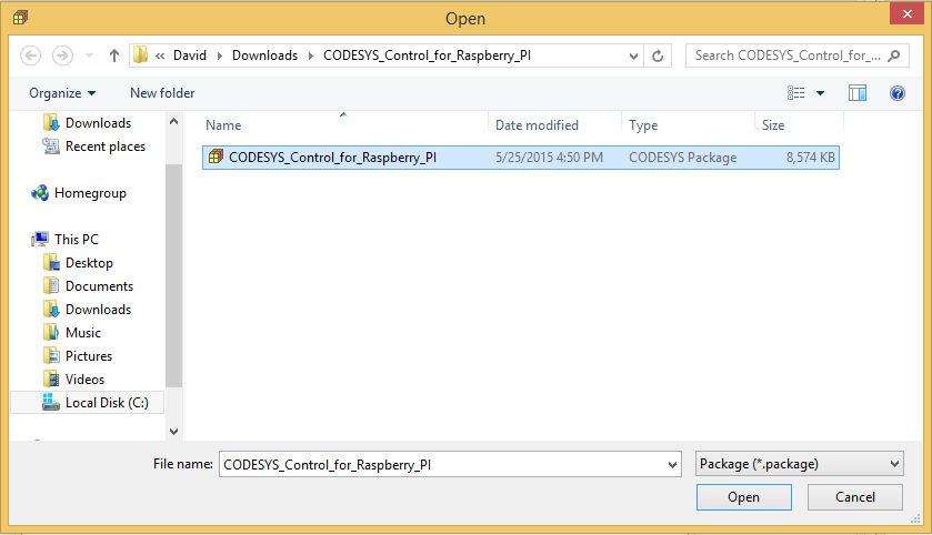 Codesys raspberry pi target download