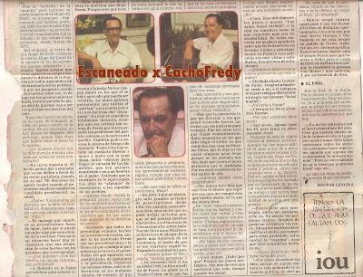 Reportaje del año 82 a Hugo del Carril, Diario de 1982