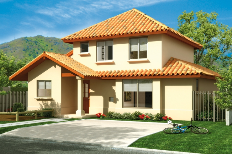 10 modelos de casas estilo chilena zona inmobiliaria for Imagenes de casa con techos de tejas