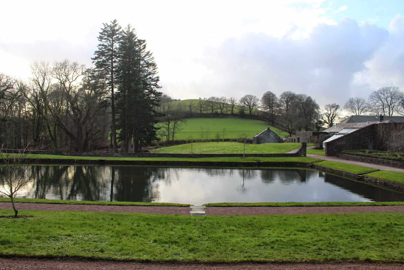 Photo showing the use of the landscape surrounding Aberglasney garden