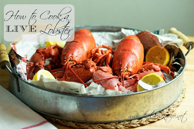 How to cook a live lobster.