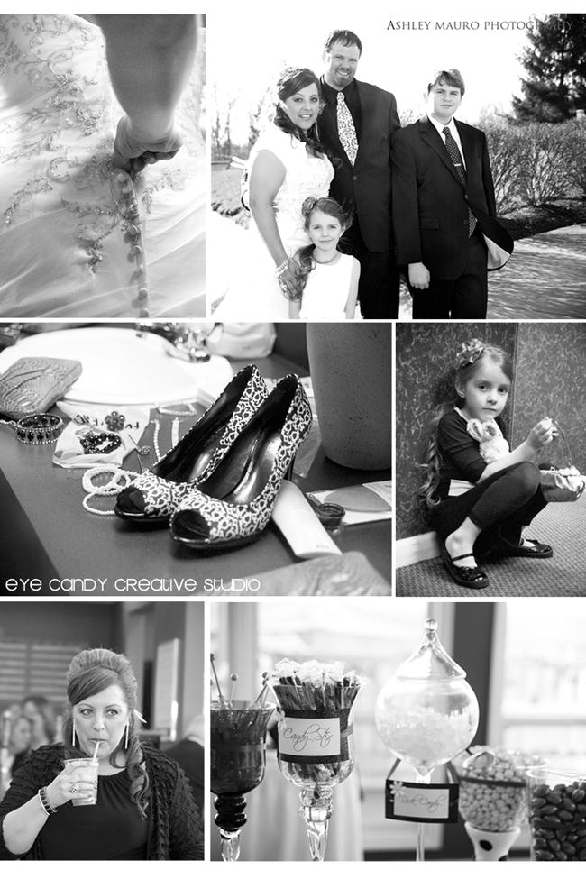 damask, black & white wedding, real wedding, my wedding, family vows, golf carts