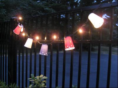 DIY lyskæde - dekoration til fest eller pynt til hjemmet