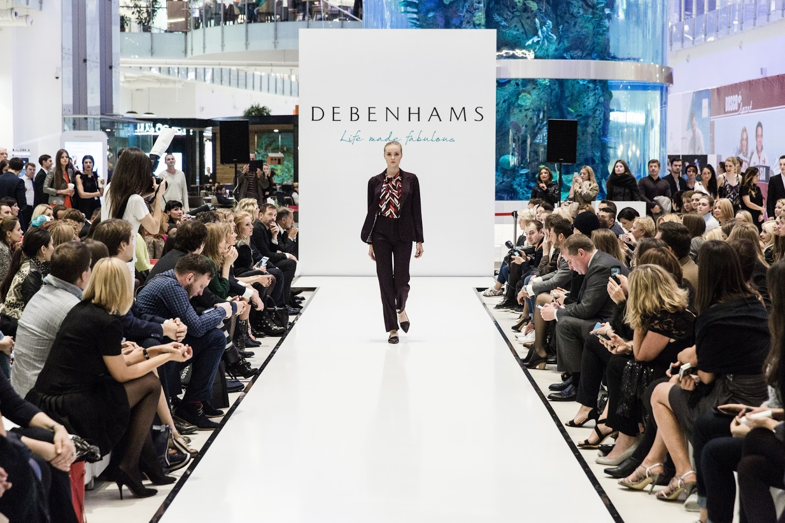 Debenhams runway show in Moscow