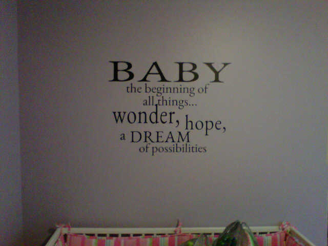 Baby Nursery Vinyl Wall Art