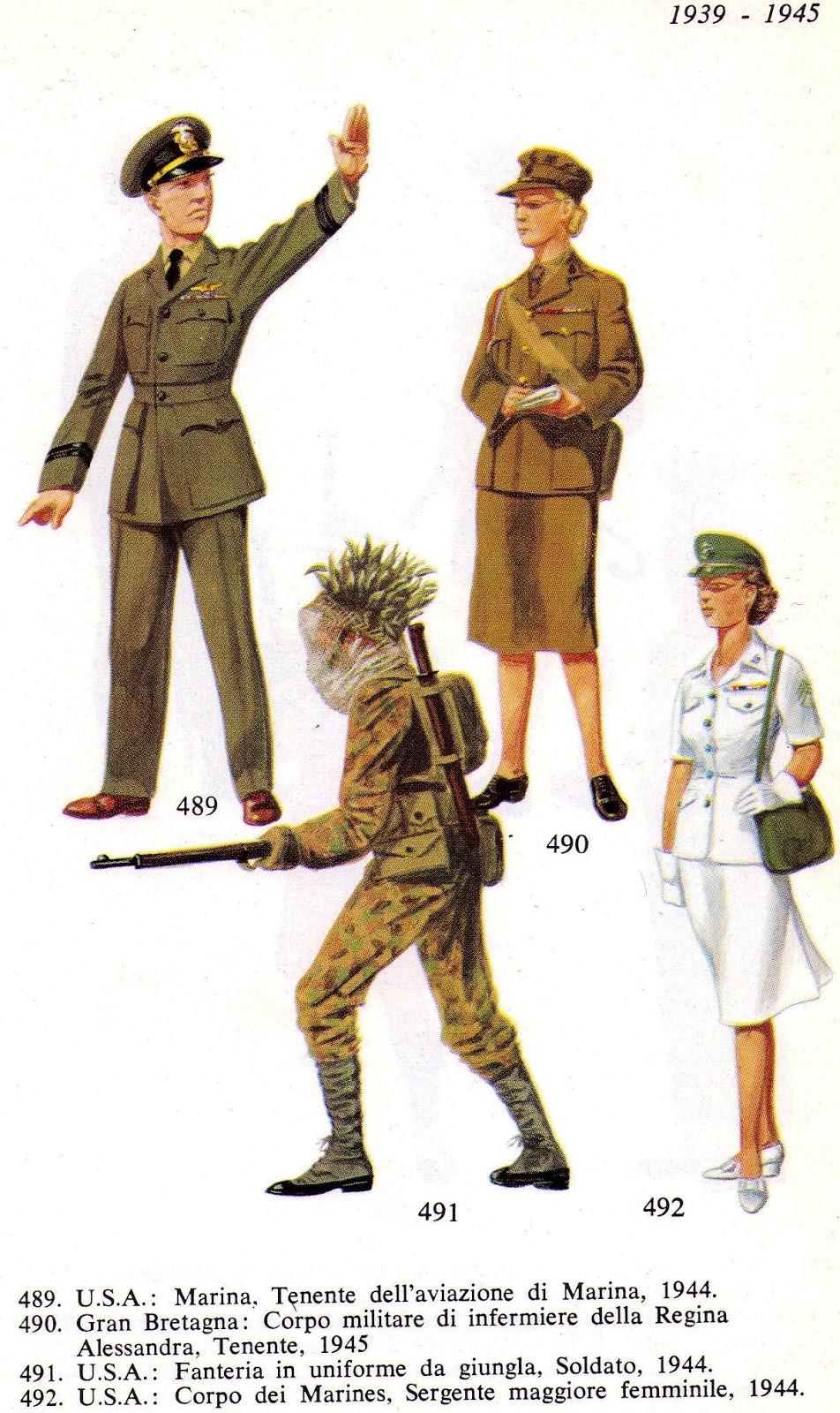 spesso uniformologia: 1. Usa e Gran Bretagna. Seconda Guerra Mondiale  RA14