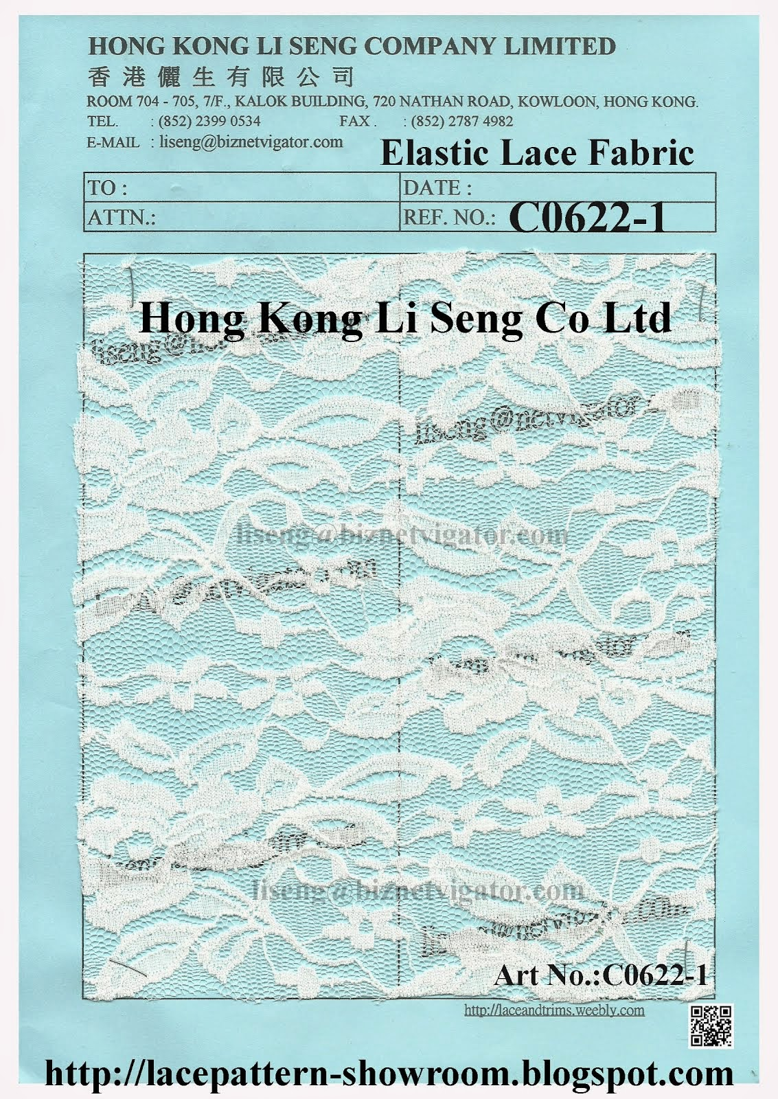 Elastic Lace Fabric Wholesaler and Supplier - Hong Kong Li Seng Co Ltd